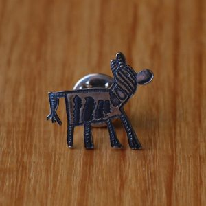 Zebra Kids Art Brooch