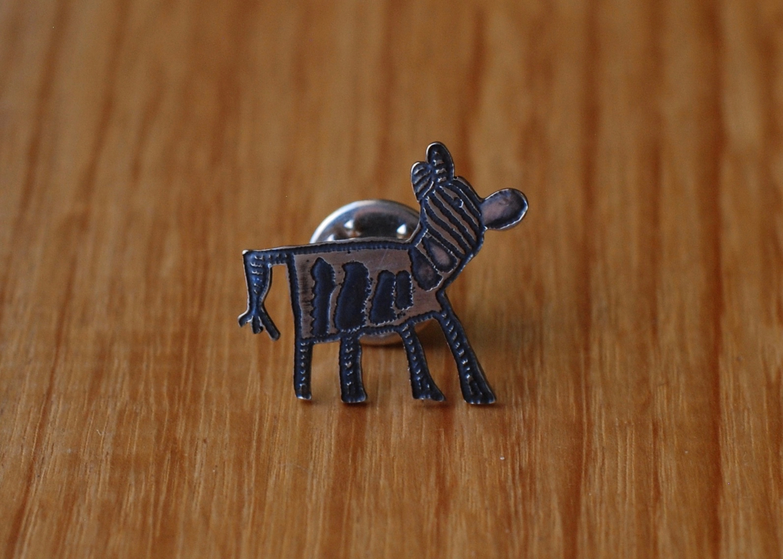 Zebra Kids Art Brooch