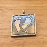 Sterling Silver Footprint Pendant