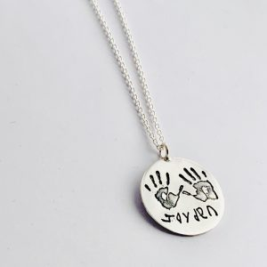 Personalised Handprint Pendant for Mum