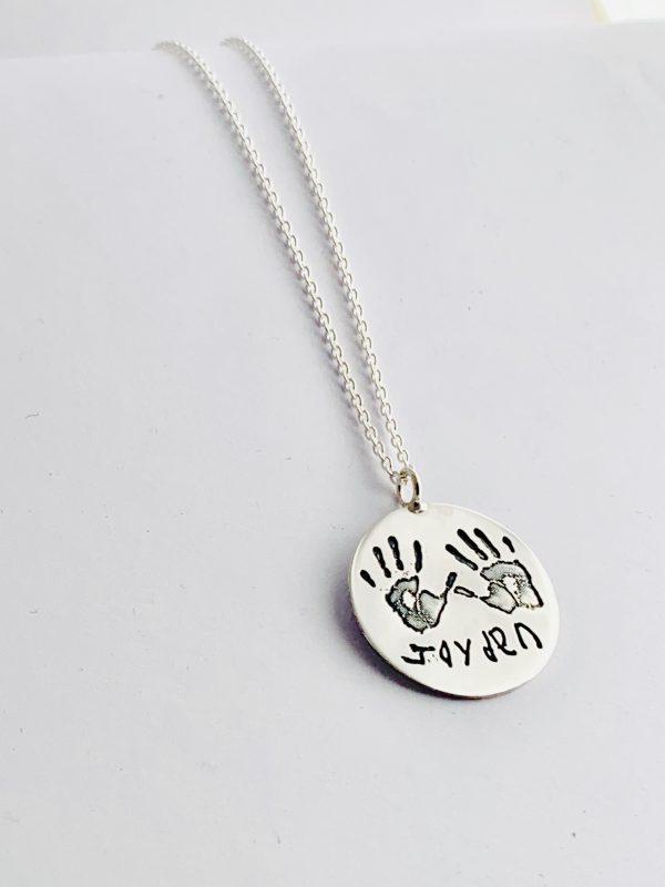 Personalised Handprint Pendant for Mum
