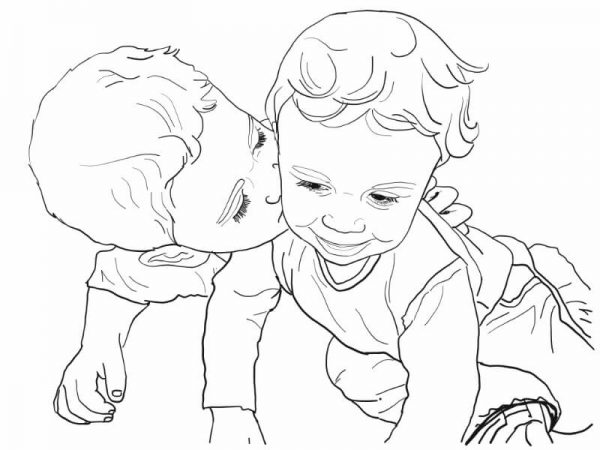 Hand-drawn digital line art portraits from your family photos.