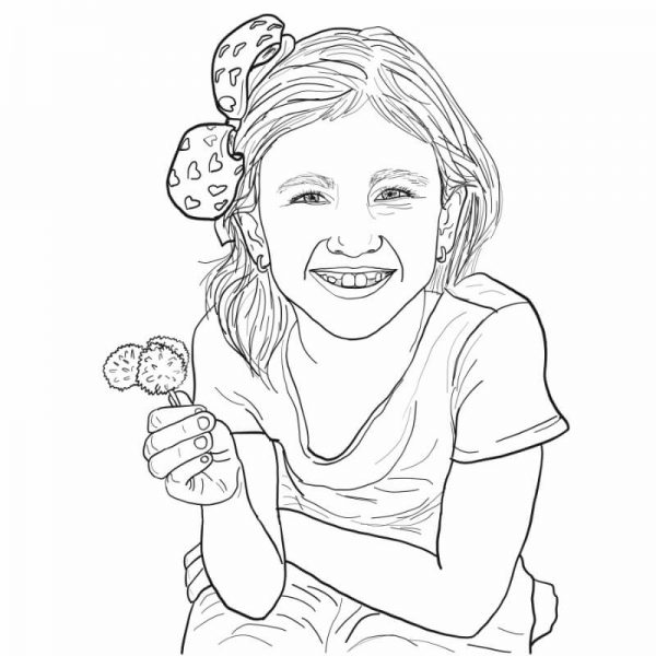 Have your personalised digital portrait created as a line drawing with a touch of colour to bring your image to life. For a detailed and emotion invoking finished drawing ready for you to enjoy.
