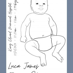 Newborn Baby Portrait to Scale Boy