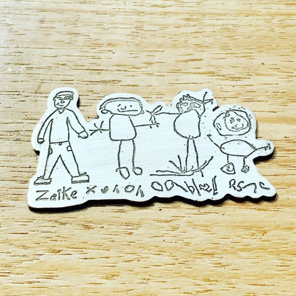 Unique Kids Art Personalised Lapel Pin Brooch