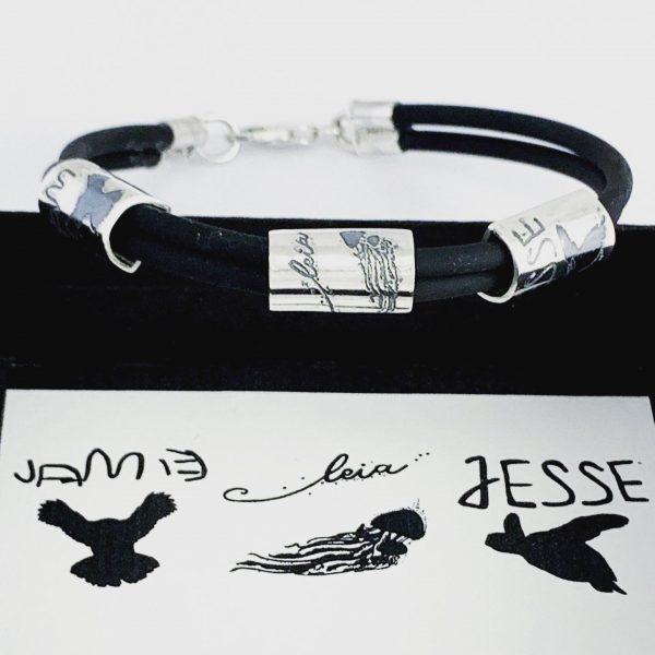 Personalised mens bracelet